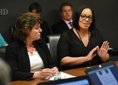 Syracuse Schools Superintendent Sharon Contreras (right) and Mayor Stephanie Miner both said that getting Fowler High School an athletic stadium and football field was a priority to them.