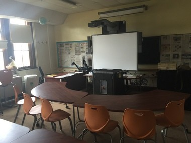 """When students at Grant Middle School head to school two weeks early this year, they will arrive to brand new classroom furniture, arranged for """"21st Century"""" learning. The classrooms are arranged so that students can work in groups or individually, not just like in a traditional classroom setting."""