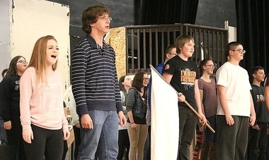 "John C. Birdlebough High School students rehearse for ""Les Miserables,"""