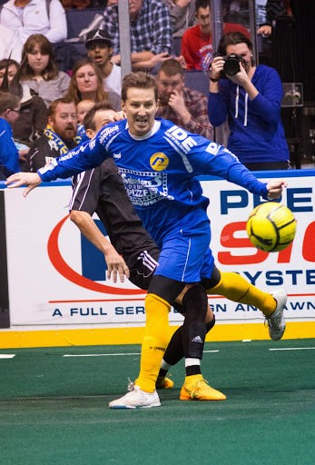 Rochester Lancers head coach Doug Miller had planned to retire as a player this season, but instead has jumped back onto the field to help his team on defense.