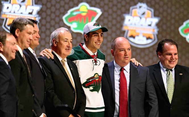 Alex Tuch is selected 18th overall by the Minnesota Wild in the first round of the 2014 NHL Draft at the Wells Fargo Center on June 27, 2014, in Philadelphia.
