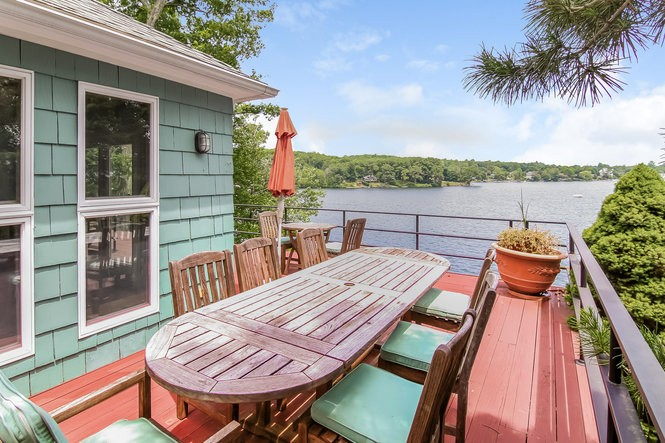 Deck of Joe Torre's lakefront property on 318 West Lake Blvd., Mahopac, NY.