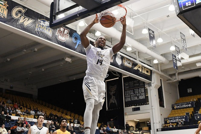 George Washington sophomore guard Maceo Jack during a game in Feb. 2018.