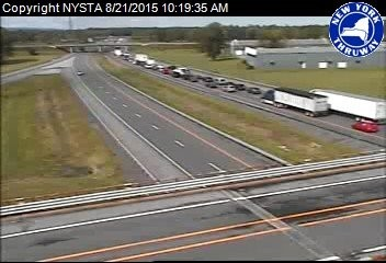 Update: NYS Thruway reopened near Exit 34 after vehicle fire