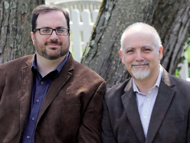 """Television critics Alan Sepinwall, left, and Matt Zoller Seitz are co-authors of """"TV (The Book)."""""""