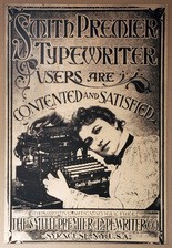Poster of the Smith Premier typewriter.