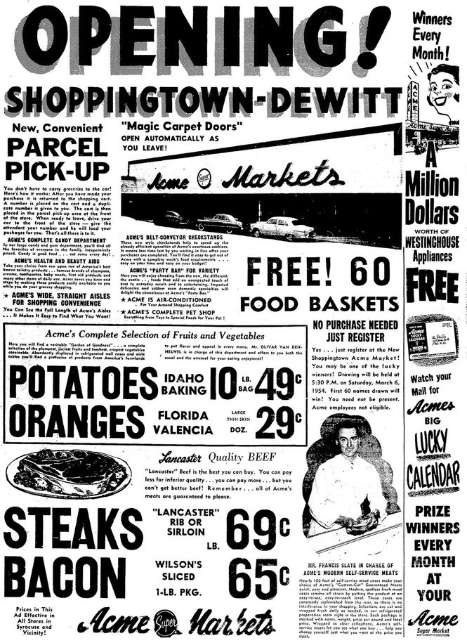 Flashback: ShoppingTown Mall opens with a bang in 1954 (vintage ads