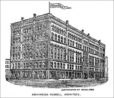 The Bastable Building shortly after its construction in 1893.