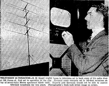 Meet R M Siegel, the first person in Syracuse to watch TV - syracuse com