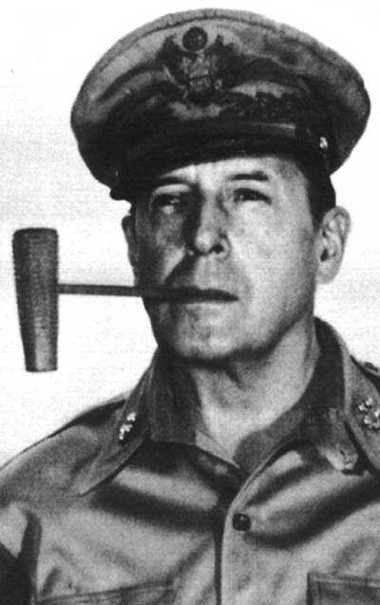 Gen. Douglas MacArthur poses for a portrait in Manila in 1945. The hero of the Pacific in World War II was furious after a Syracuse lieutenant upstaged his flag-raising ceremony in Tokyo following Japan's surrender.