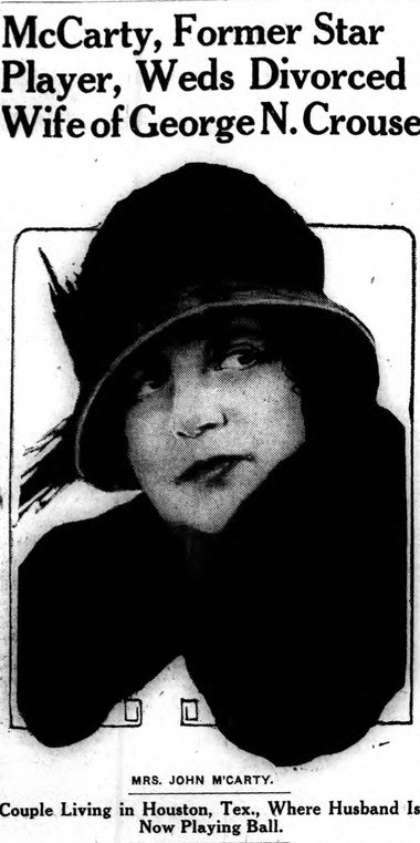Rita Knight as she appeared in 1926, after marrying John McCarty in Texas.