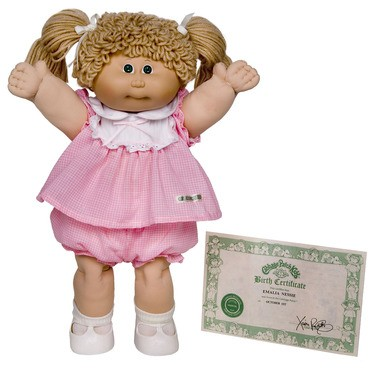 The appeal of the Cabbage Patch Kid was that no two dolls were said to alike.
