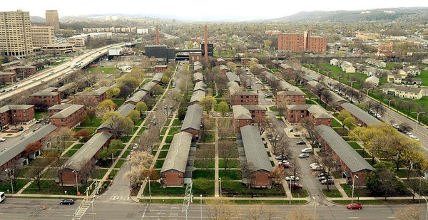 Overall of Pioneer Homes Syracuse from the Geneva Tower owned by UPSTATE. May 2, 2014. Dennis Nett | dnett@syracuse.com